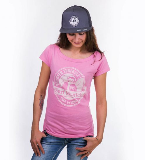 smucwear t shirt smuc surfmunich 1978 damen rose