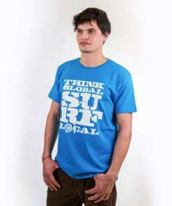 smucwear t shirt smuc think global act local hellblau