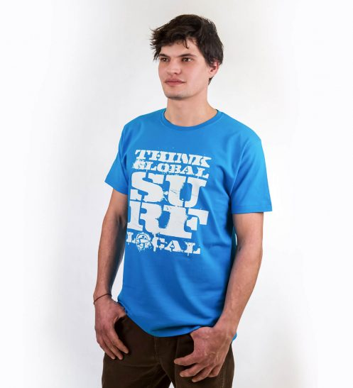 smucwear t shirt smuc think global act local hellblau